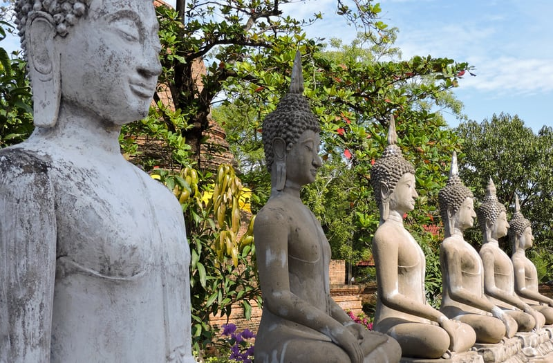 Alrededores del templo Wat Yai Chai Mongkol