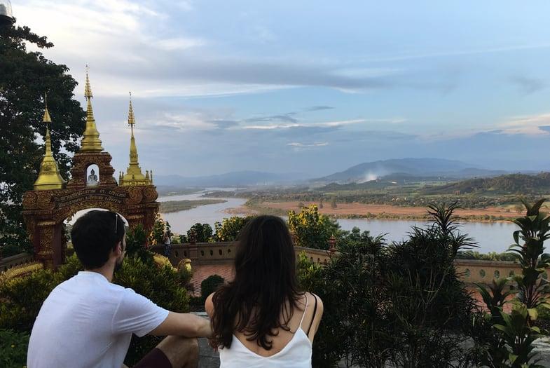 Vistas del triangulo de oro desde el templo Wat Pha Ngao