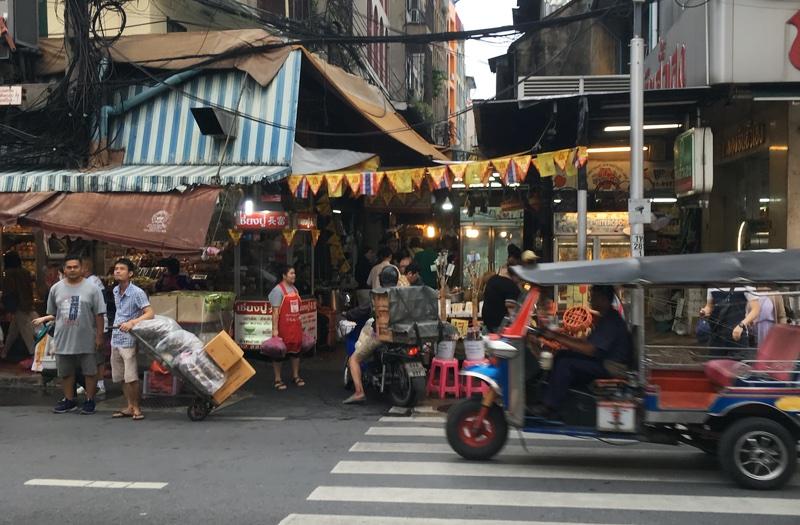 Barrio de Chinatown en Bangkok