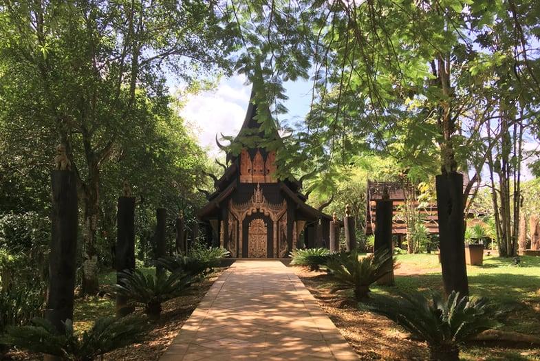 Cabaña del Museo Negro en los alrededores de Chiang Rai