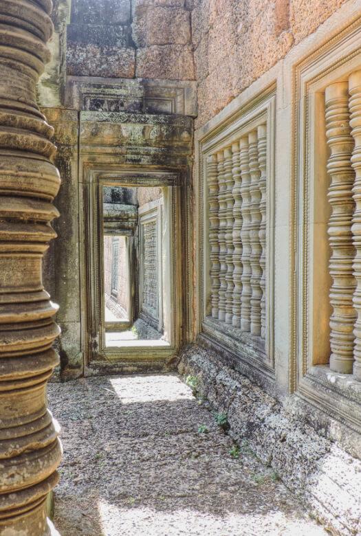 Pasillos en el templo Banteay Samre