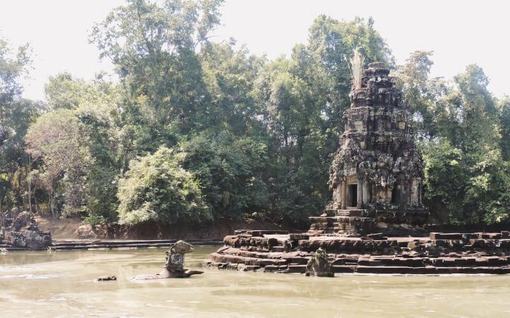 Templo Neak Pean del circuito largo de Angkor