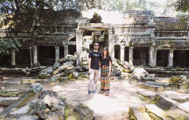 Nosotros visitando Ta Prohm