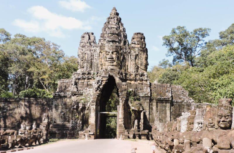 Puerta sur de Angkor