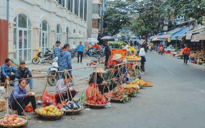 Vendedoras en las calles de Hanói