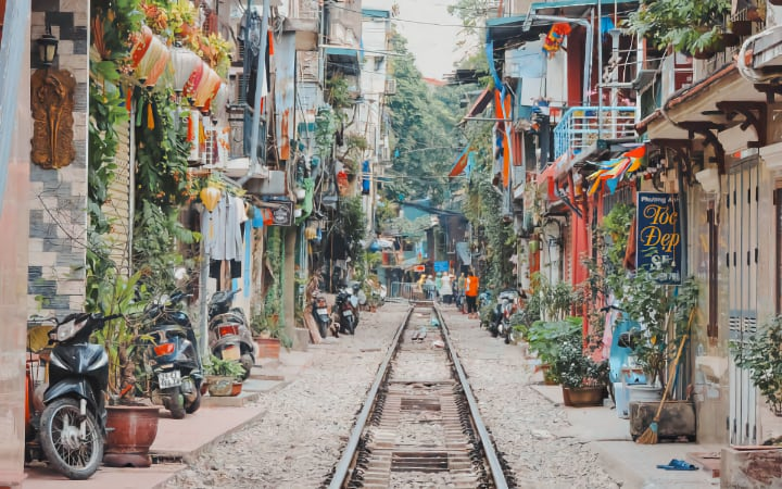 Ver vías del tren en Hanói