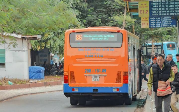 Autobús 86 para ir del aeropuerto de Hanói a Old Quarter