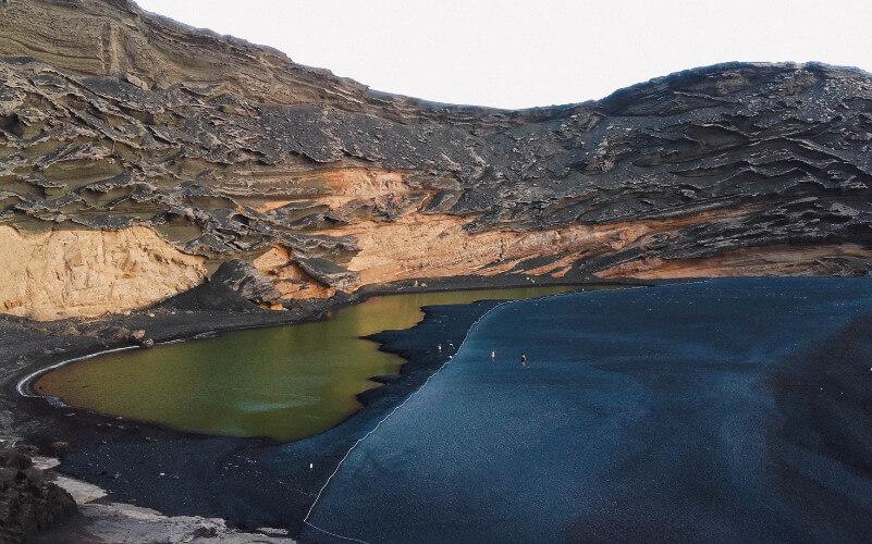 El charco verde en El Golfo, Lanazarote