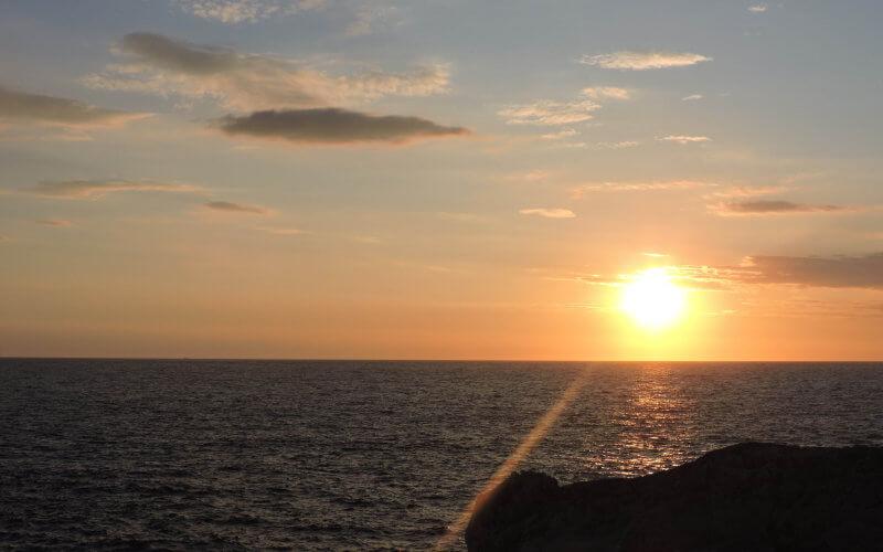 Atardecer en Sa posta de sol