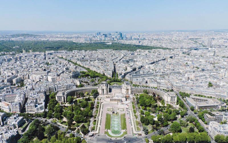 Vistas de la Plaza del Trocadero desde la Torre Eiffel