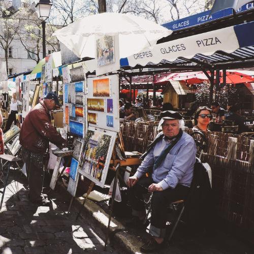 Plaza du Tertre en el barrio de Montmartre