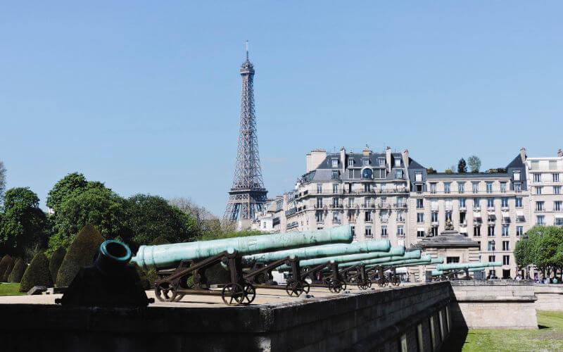 Torre Eiffel desde el palacio de los inválidos