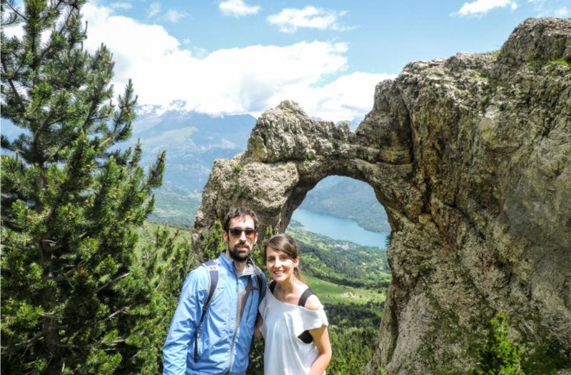 Foto desde el arco de Piedrafita