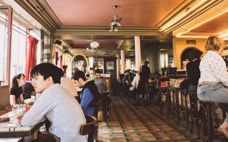 Cafetería de Amelie en el Barrio de Montmartre