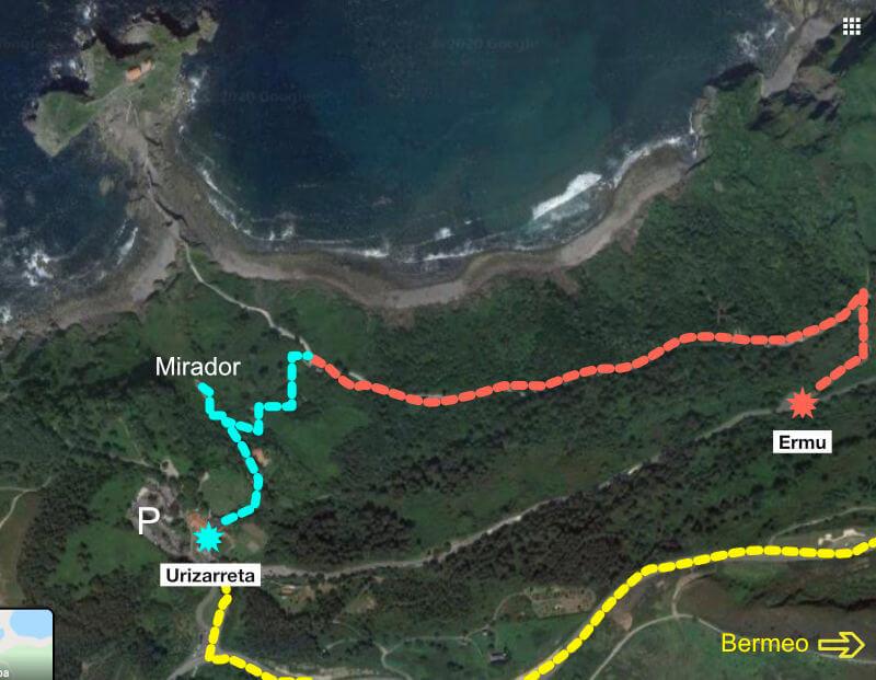 Mapa Gaztelugatxe