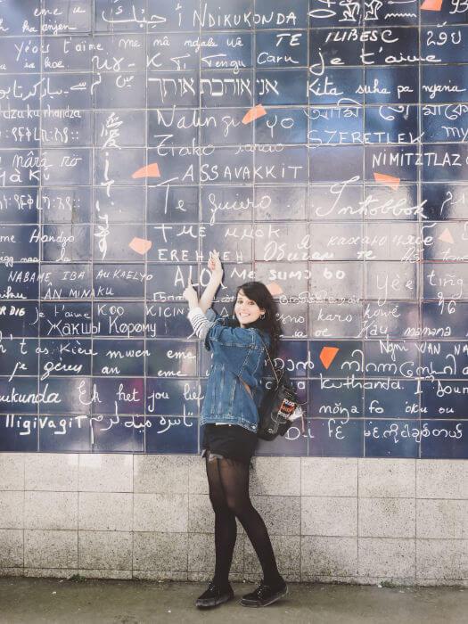 Muros de los te quieros en el Barrio de Montmartre