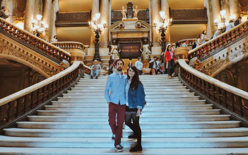 Escaleras de la Opera Garnier