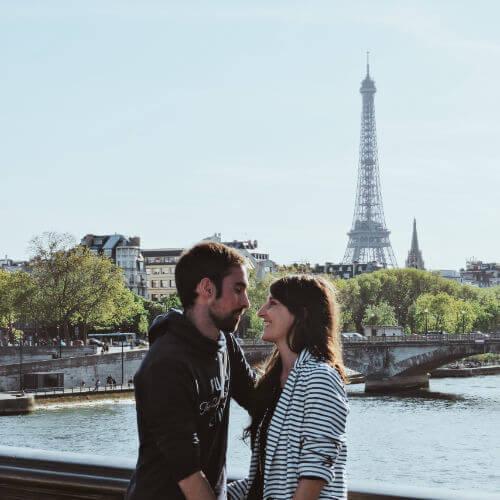 Torre Eiffel desde el puente Alexandre III