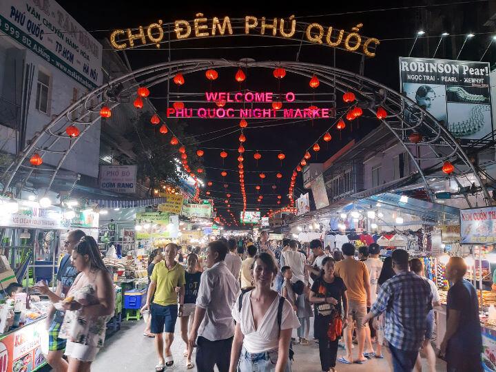 El night market de Duong Dong