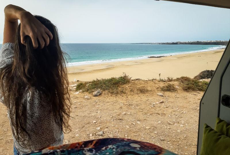 pernoctar en el cotillo en Fuerteventura con la camper