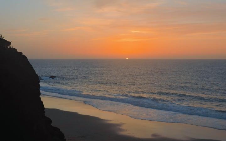 Atardecer en el norte de Fuerteventura