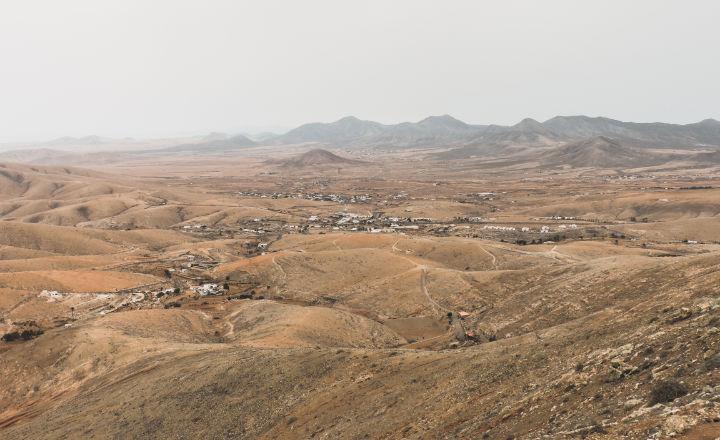 Mirador para ver la isla de Fuerteventura