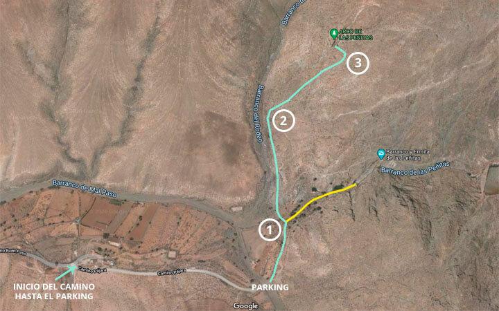 Mapa para llegar al arco de las Peñitas