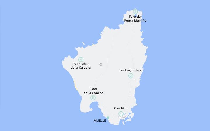 Mapa de Isla de Lobos