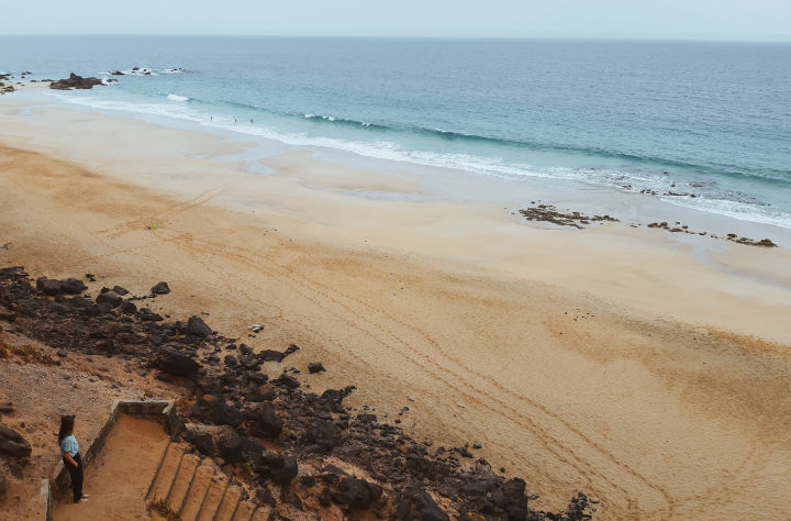 Playa del águila en Fuerteventura