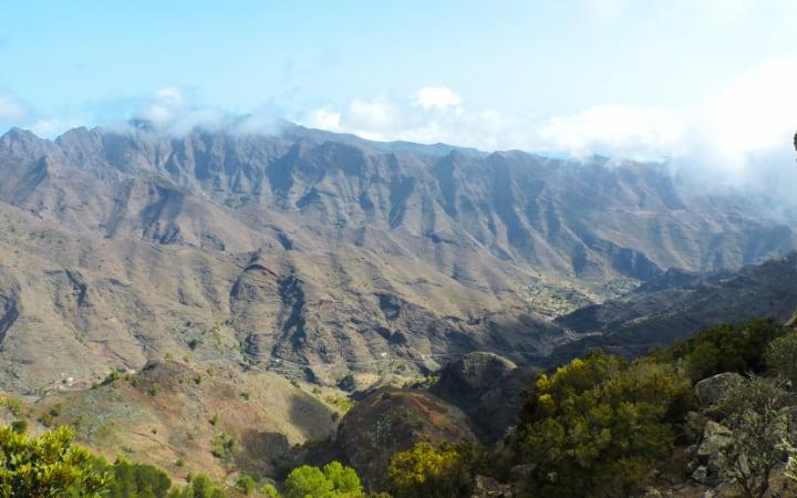 Vistas desde los miradores de La Gomera