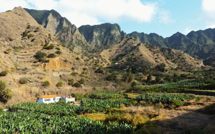 Vistas desde nuestro alojamiento en La Gomera