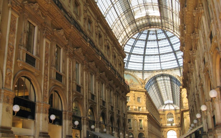 Interior de la galeria vitorio Emanuele II