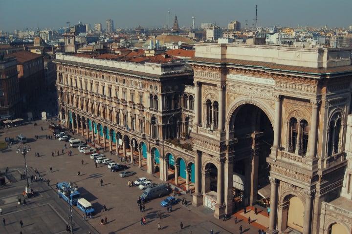 Vistas desde el Duomo de Milán