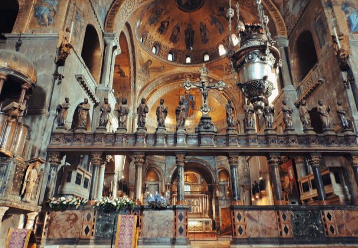 Interior de la Basílica de San Marco
