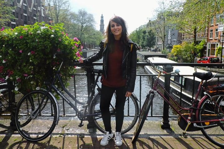 Lucia en los canales de Ámsterdam
