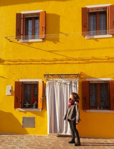 Casa amarilla de Burano