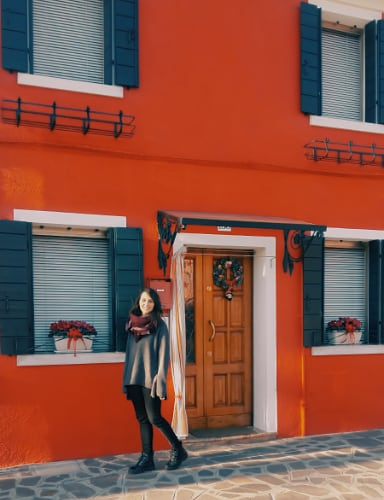 Casa roja de Burano