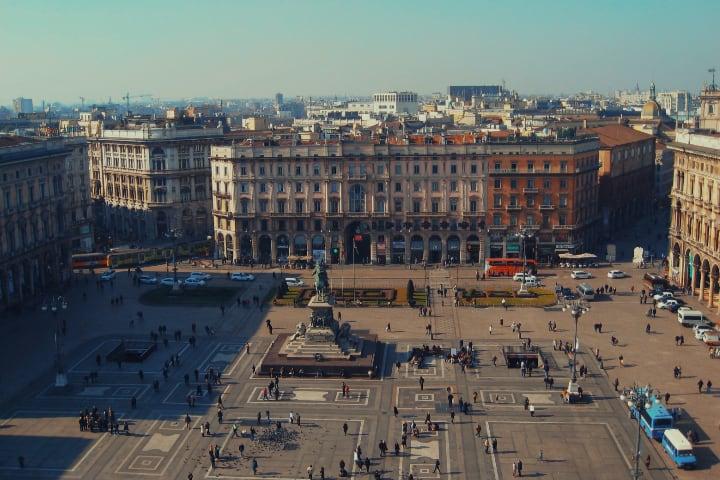 Piazza del Duomo en Milán