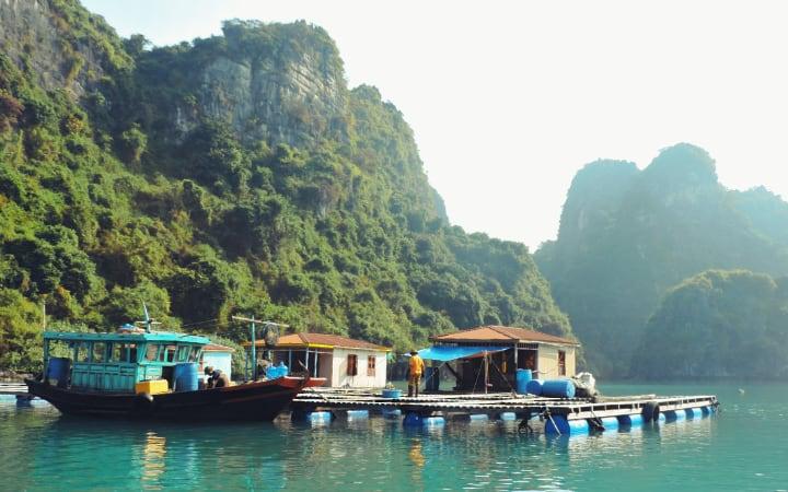 Pueblo de pescadores Vong Vieng