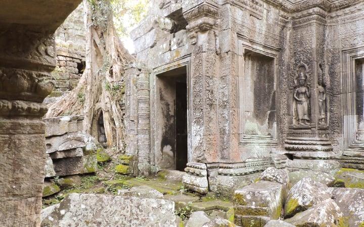 Detalles del templo Ta Prohm