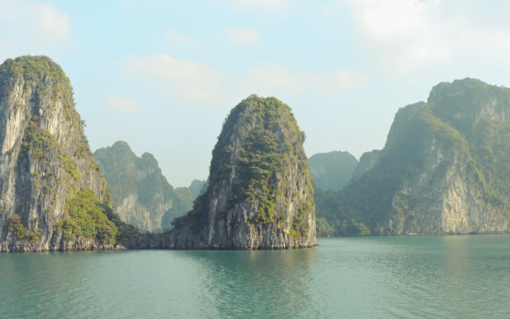 Paisaje de la bahía de Halong