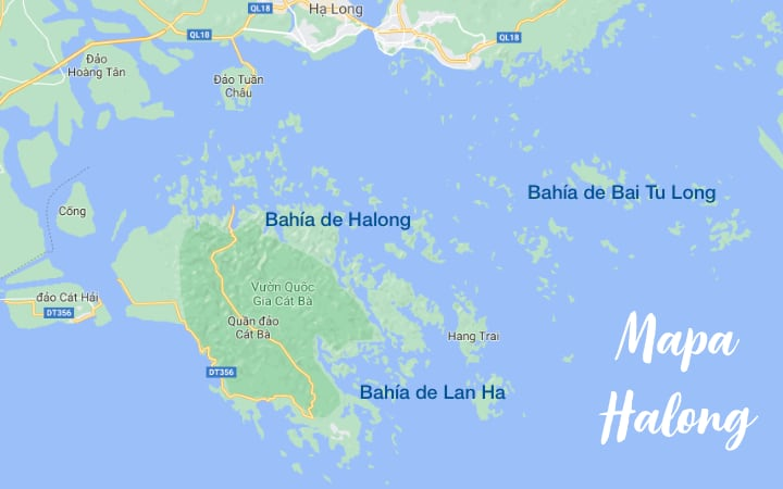 mapa de Halong