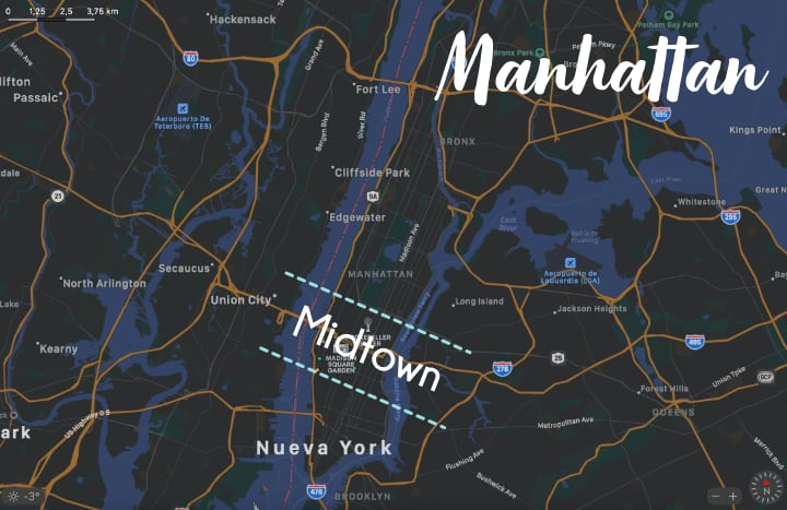 Mapa de Midtown Manhattan