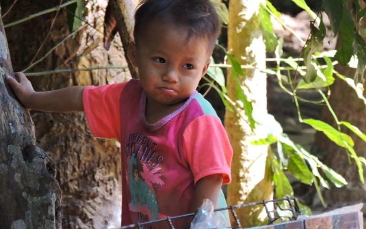 Imagen de un niño en Camboya