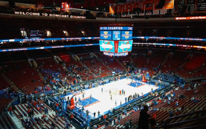 Partido de la NBA en Philadelphia