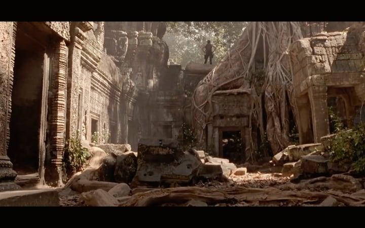 Imagen de la película Tomb Raider rodada en Ta Prohm