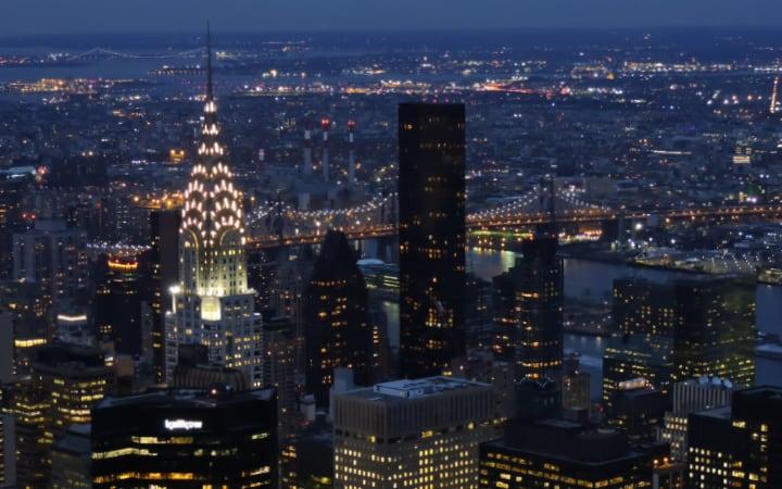 Anochecer en el Empire State Building