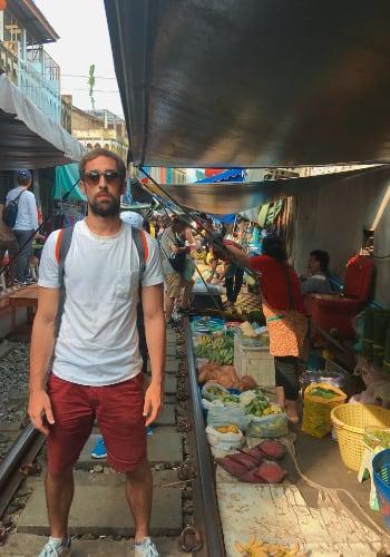Visita al mercado del tren en Bangkok Manu