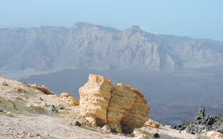 Ríos de lava del volcán Teide