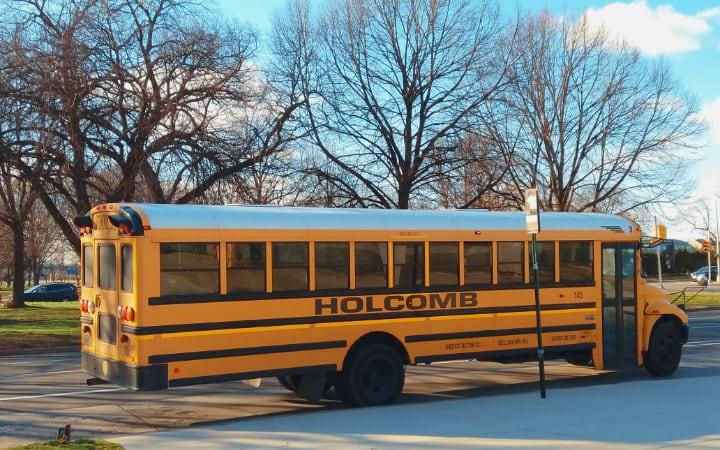 Típico bus de colegio americano